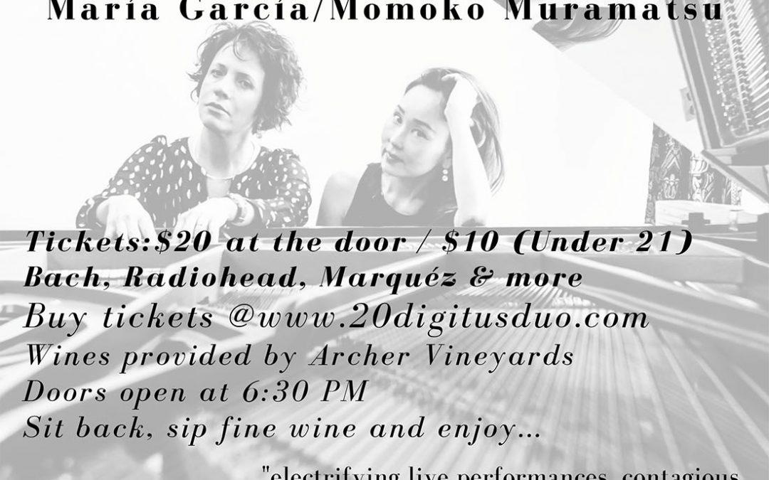 Portland Piano Duo Festival Launch Concert: María García / Momoko Muramatsu